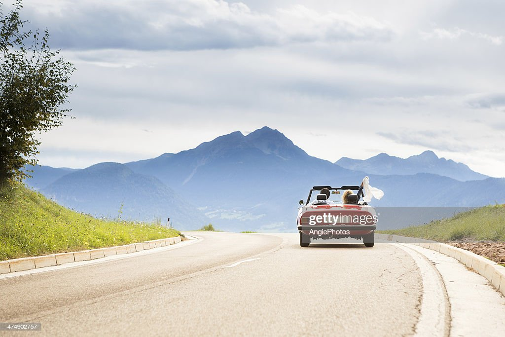 Trip in a cabriolet : Stock Photo