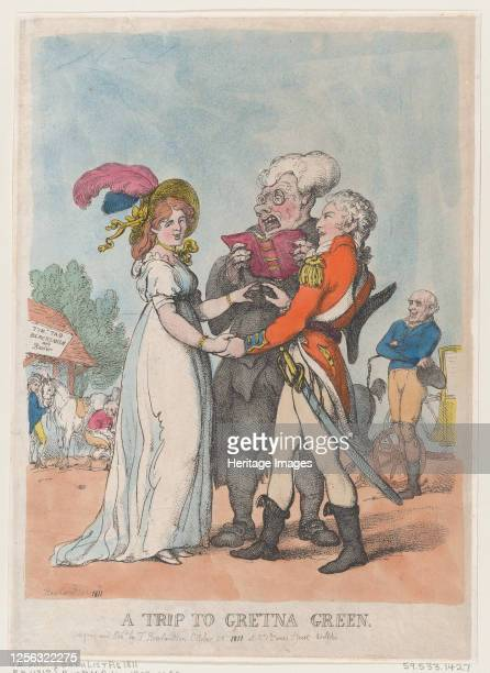 Trip to Gretna Green, 1803. Artist Thomas Rowlandson.