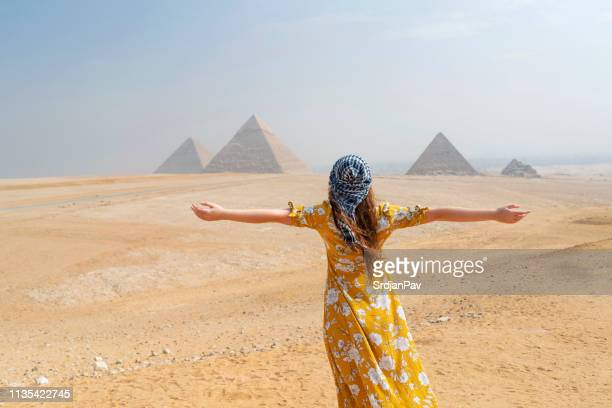 a trip to remember - giza stock pictures, royalty-free photos & images