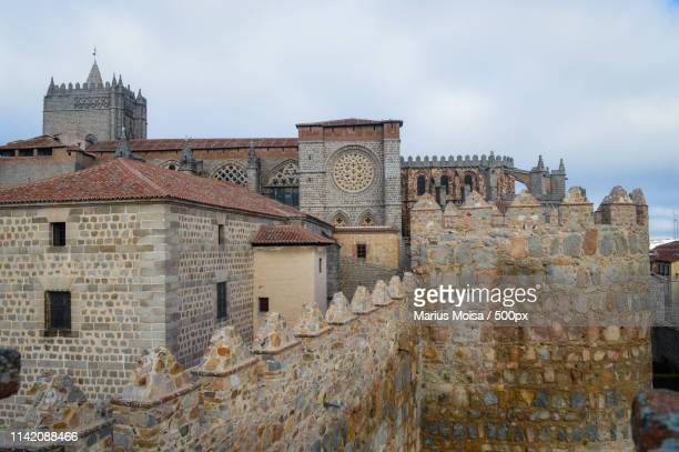 trip to the city of avila spain - unesco stockfoto's en -beelden