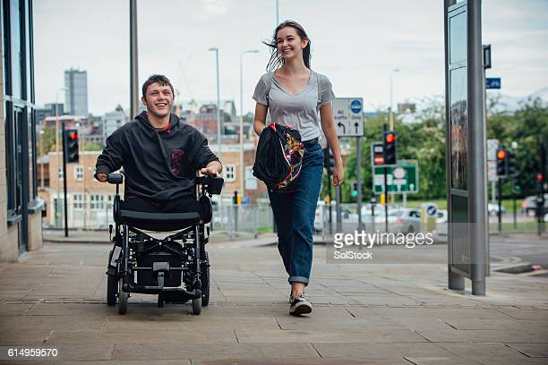 trip to town - quadriplegic stock photos and pictures