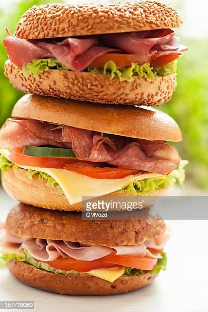 Triple Bagel Sandwich