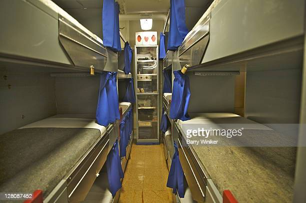 Triple bunks aboard Battleship New Jersey, Camden, New Jersey