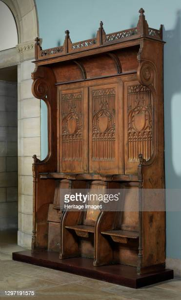 Triple Choir Stall with Canopy, French, 15th century. Artist Unknown.