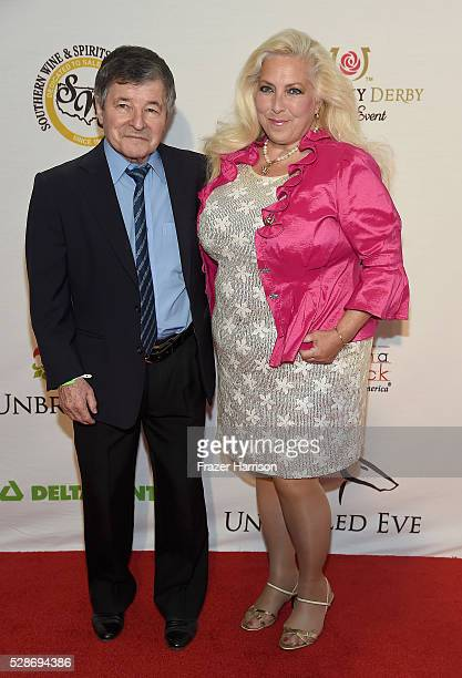 Triple Crown Winner Jean Cruguet and LuAnne Burton attend Unbridled Eve Gala during the 142nd Kentucky Derby on May 6 2016 in Louisville Kentucky