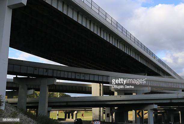 Triple Decker elevated highway bridges