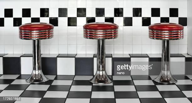 Triple diner stools