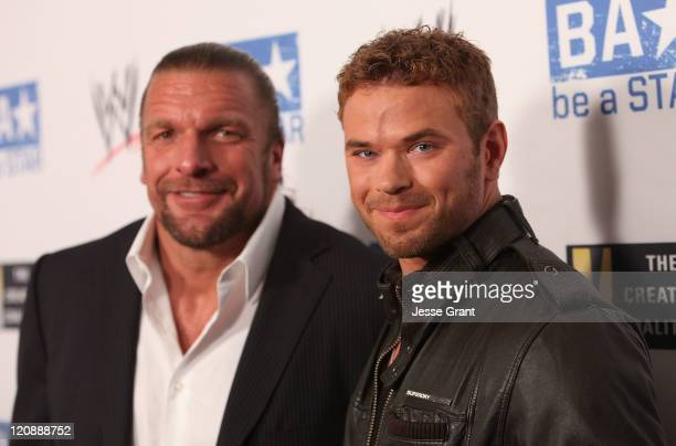 Triple H and Kellan Lutz attend WWE's and Creative Coalition's 'be A STAR' Summer Event at the Andaz Hotel on August 11 2011 in West Hollywood...