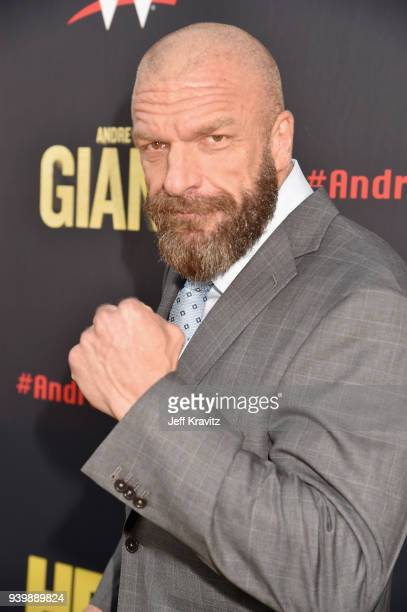 Triple H attends the Los Angeles Premiere of Andre The Giant from HBO Documentaries on March 29 2018 in Los Angeles California