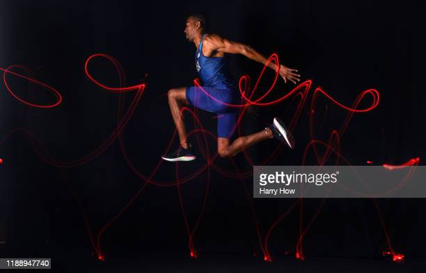 Triple Jumper Christian Taylor poses for a portrait during the Team USA Tokyo 2020 Olympics shoot on November 20, 2019 in West Hollywood, California.