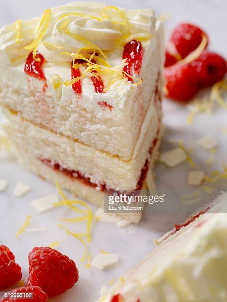 Triple Layered Lemon, Raspberry Cake
