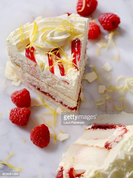 Triple Layered Lemon, Raspberry Cake