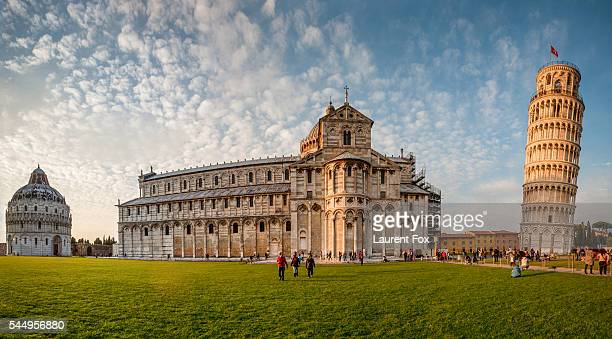 triple masterpiece - pisa stock pictures, royalty-free photos & images
