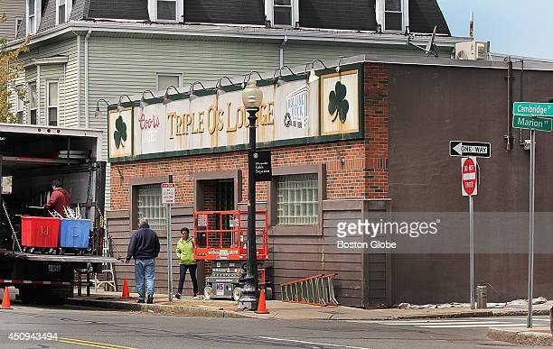 Triple O's Lounge in South Boston has been made over at a different location in Cambridge for the filming of the upcoming Whitey Bulger movie 'Black...