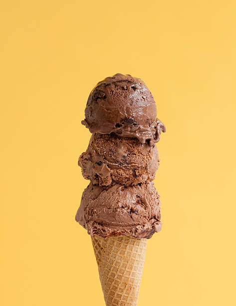 Triple Scoop Chocolate Ice Cream