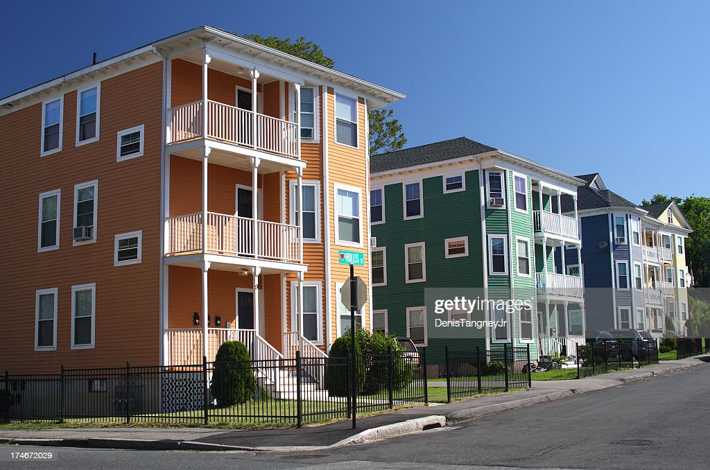 Triplo de casas : Foto de stock