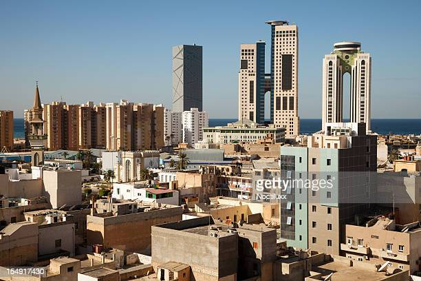 tripoli skyline, libya - libya stock pictures, royalty-free photos & images