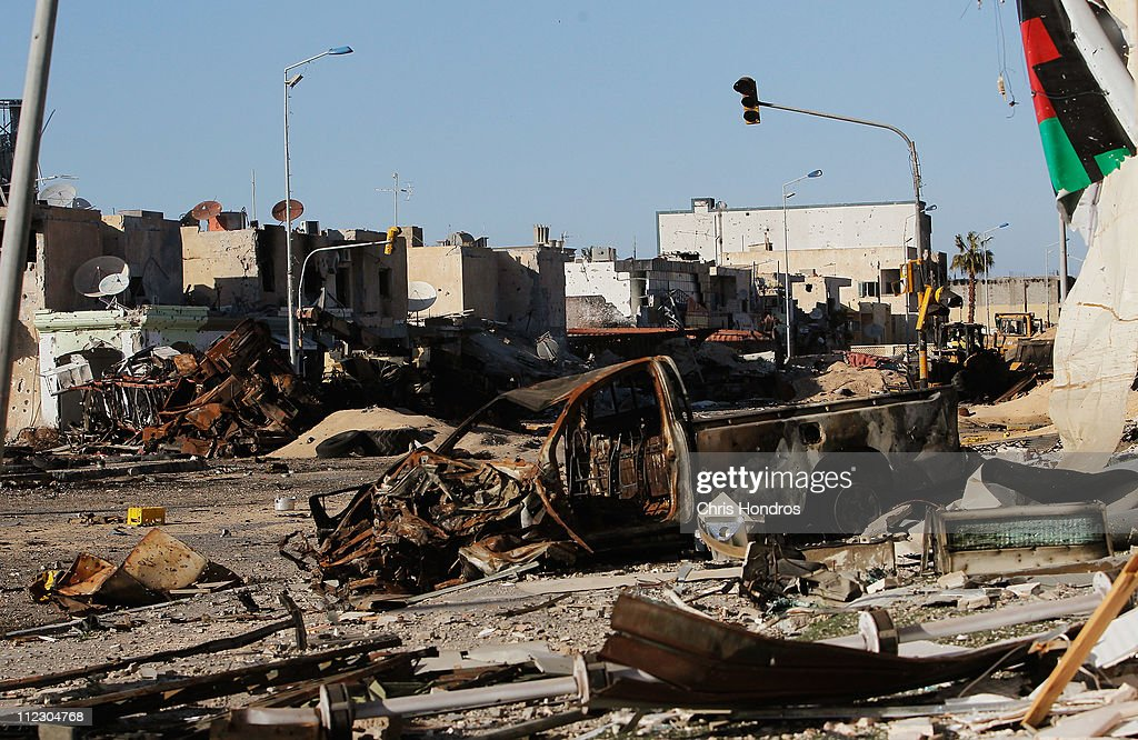 Besieged Libyan City Of Misrata Struggles Against Gaddafi's Forces : News Photo