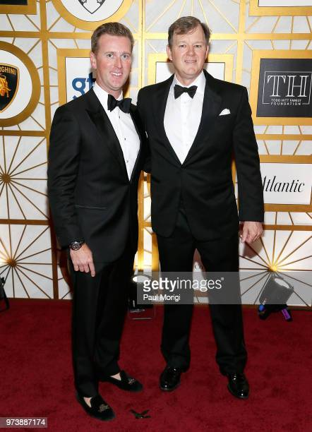 Tripp Donnelly and Frank Saul attend the Harvard Business School Club's 3rd Annual Leadership Gala Dinner at the Four Seasons Hotel on June 13 2018...