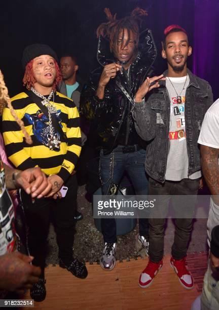 Trippie Redd and Lil Wop attend trap Du Soleil Celebrating YFN Lucci on February 13 2018 in Atlanta Georgia