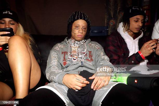 Trippie Redd backstage at Irving Plaza on February 5 2019 in New York City