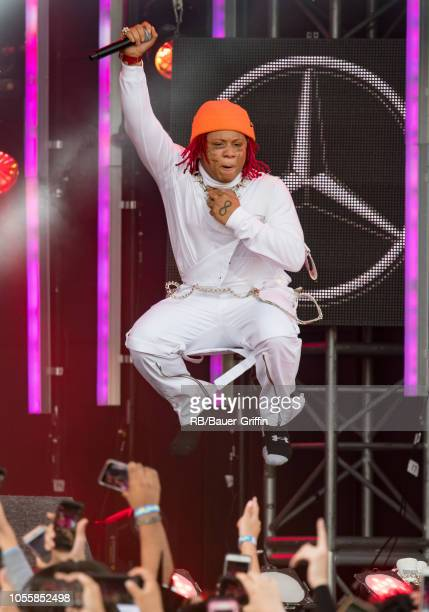Trippie Redd is seen at 'Jimmy Kimmel Live' on October 31 2018 in Los Angeles California