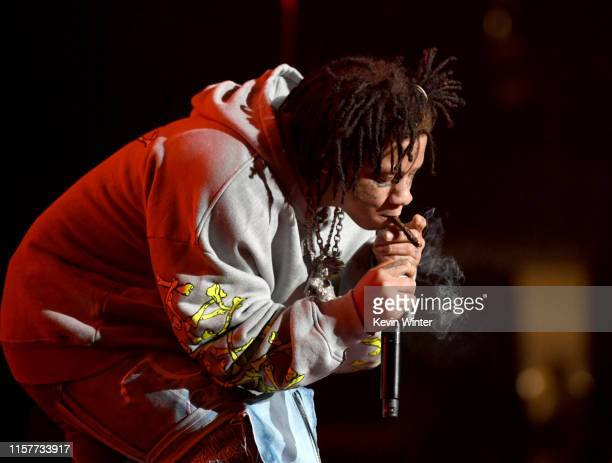 Trippie Redd performs at the 7th Annual BET Experience at LA Live Presented by CocaCola at Staples Center on June 22 2019 in Los Angeles California