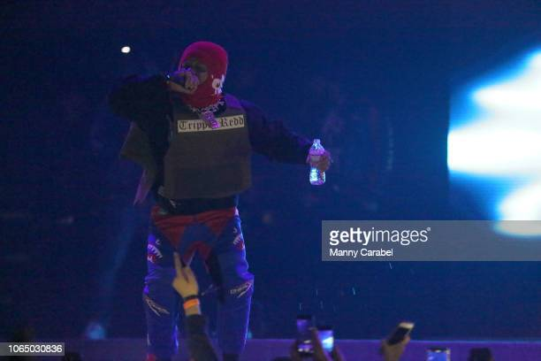 Trippie Redd performs on stage during the ASTROWORLD Wish You Were Here Tour at Prudential Center on November 24 2018 in Newark New Jersey