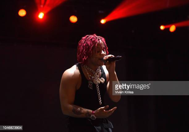 Trippie Redd performs onstage during Adult Swim Festival 2018 at ROW DTLA on October 6 2018 in Los Angeles California