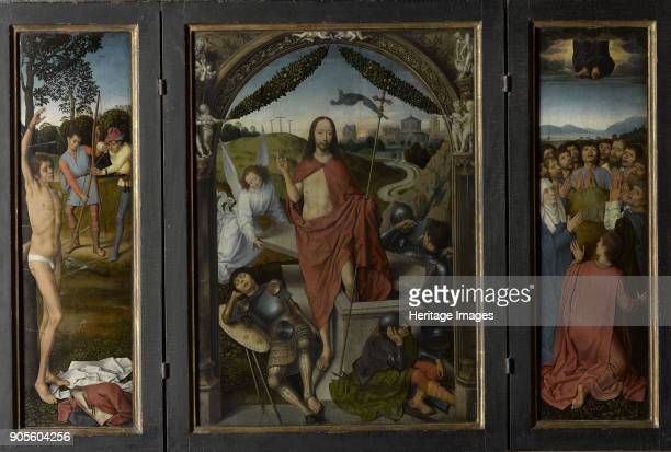 Triptych of The Resurrection Found in the Collection of Musée du Louvre Paris