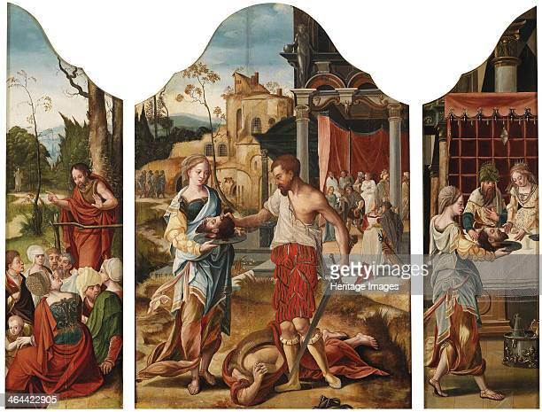 Triptych with scenes from the life of Saint John the Baptist ca 1530 From a private collection