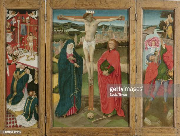 Triptych with the Crucifixion Anonymous c 1460