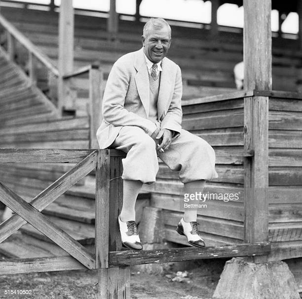 Tris Speaker, the former Big League star, and now manager of the Newark, New Jersey baseball team, as he was watching the Brooklyn Dodgers- Phillies...