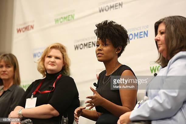 Trisa Thompson Sarah Schimmer Maya Payne Smart and Yasmine Winkler speak during the Brave Girls Strategies for Strength session during the Texas...