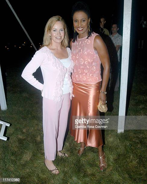 Trish Bergin and Barbara Smith during Shape Magazine Presents Blue Moon Ball at Vicki and Stuart Match Suna in East Hampton New York United States