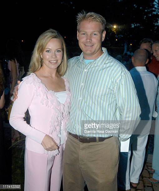 Trish Bergin and Randy Weichbrodt during Shape Magazine Presents Blue Moon Ball at Vicki and Stuart Match Suna in East Hampton New York United States
