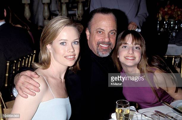 Trish Bergin Billy Joel and Alexa during The 10th Annual Rainforest Foundation Benefit Concert at Carnegie Hall in New York City New York United...