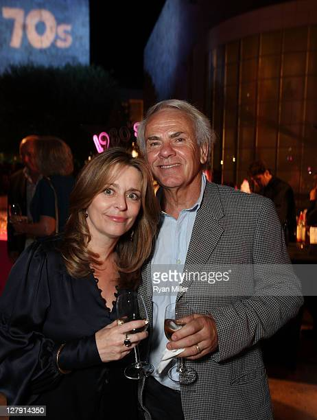 Trish de Bont and director Jan de Bont pose during the Pacific Standard Time: Art in LA 1945-1980 opening event held at the Getty Center on October...
