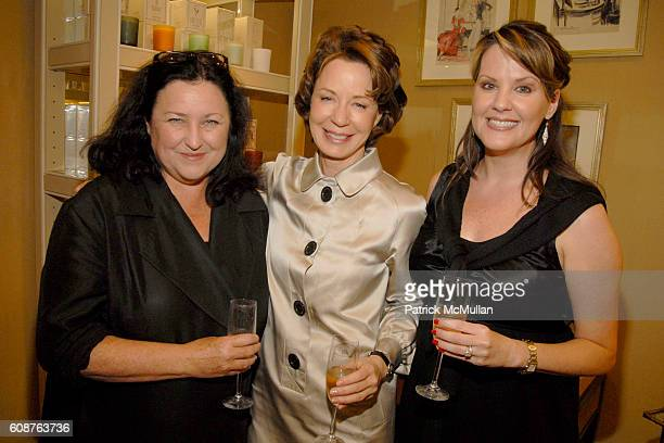 Trish Foley Barbara Barry and Michelle Richards attend BARBARA BARRY Home Fragrance Launch at Bergdorf Goodman on October 18 2007 in New York City