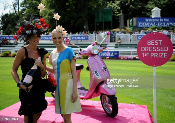 Trish Gould Winner of Best Dressed Lady stands alongside Camilla Dallerup