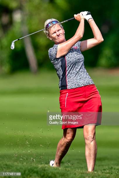 Trish Johnson of Englant in action during Day 2 of the Estrella Damm Mediterranean Ladies Open at Club de Golf Terramar on September 27 2019 in...