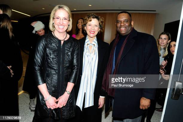 Trish Mosconi Annette Bening and Curtis House attend The Cinema Society With Synchrony Bank And FIJI Water Host A Special Screening Of Marvel...