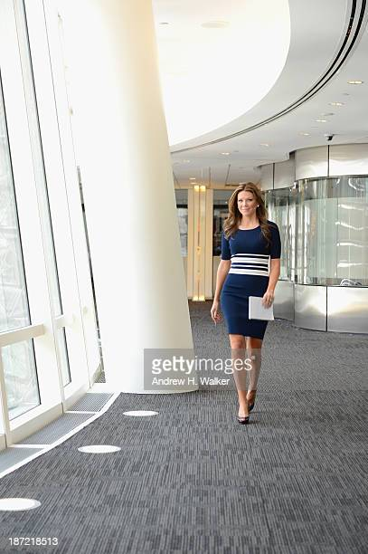 Trish Regan poses during the Resident Magazine May 2013 Cover Shoot at the Bloomberg Foundation Building on April 1 2013 in New York City