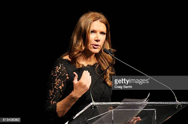 Trish Regan speaks onstage at Jefferson Awards Foundation 2016 NYC National Ceremony on March 2 at Gotham Hall in New York City