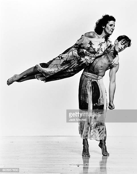Trisha Brown and Lance Gries perform Set and Reset, 1987.