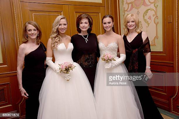 Trisha Dixon Natalie Counce Gene Jones Caroline Chambers and Kathy Counce attend 62nd International Debutante Ball at The Pierre Hotel on December 29...