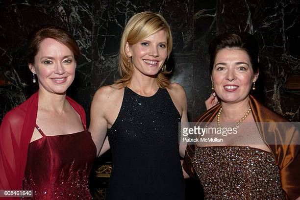 Trisha Duval Kate Snow and Marilyn Holstein attend The New York Junior League's 55th Annual Winter Ball sponsored by Bonhams Auctioneers Appraisers...