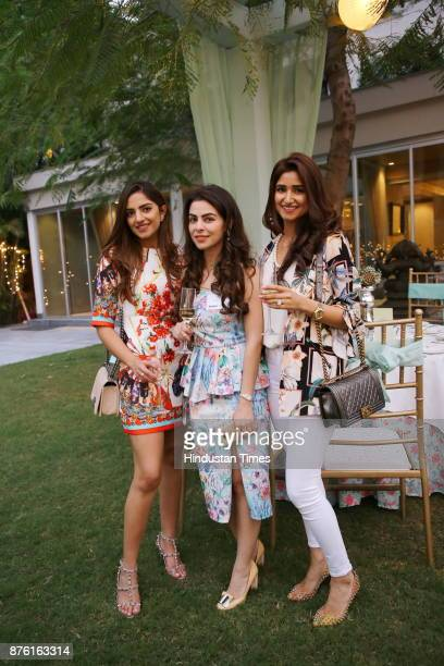 Trisha Gupta Sonam Pall and Tanvi Gupta Takhtani during the Hightea afternoon helmed by NGO Savera to raise funds for healthcare child education and...