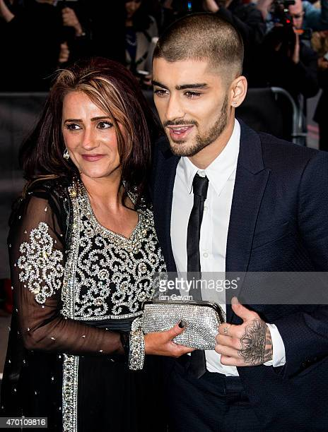 Trisha Malik and Zayn Malik attends The Asian Awards 2015 at the Grosvenor House Hotel on April 17 2015 in London England