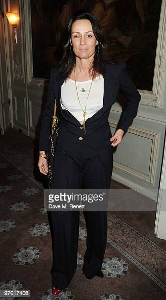 Trisha Simonon attends the Nancy Mitford 'Wigs on the Green' reissue party held by Catherine Ostler and the Dowager Duchess of Devonshire, in...